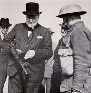 Churchill & Tommy Gun